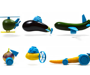 3D Printed Accessories Turn Vegetables into Toys: Vegatron