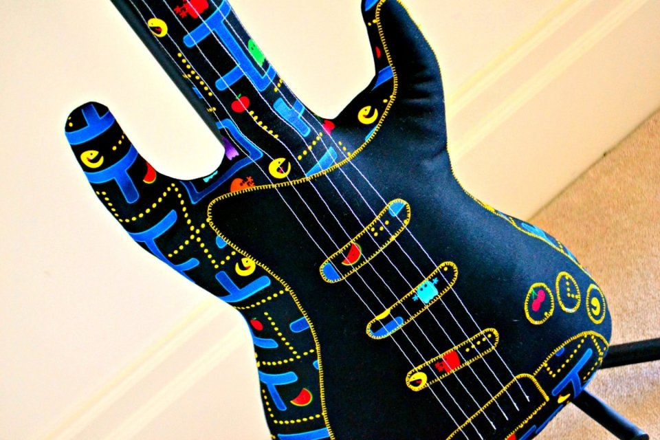 Pac Man Electric Guitar Pillow Rest Your Head You Have Pac Man