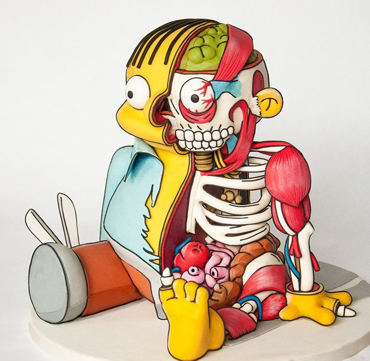 Dissected Ralph Wiggum Cake When I Grow Up Want To Be A