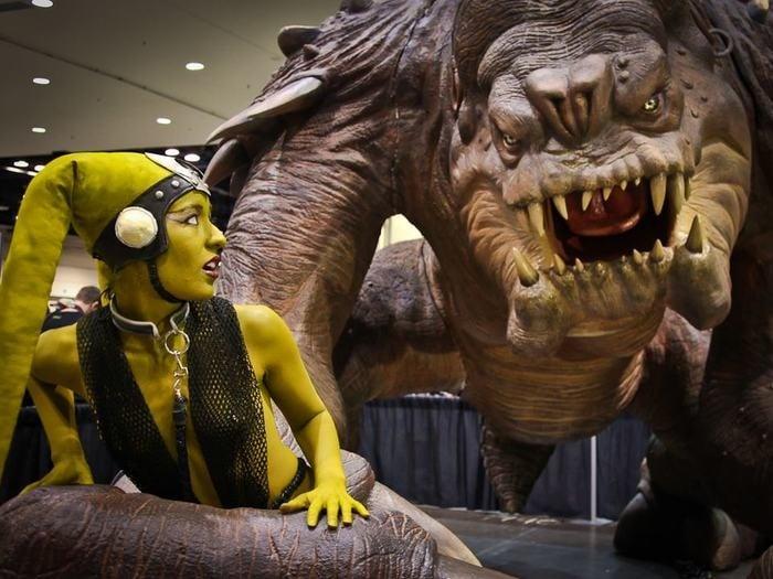 Help Give a Rancor Its Cave - Technabob Rancor Monster