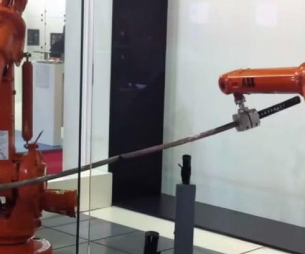 Robot Arms Dueling with Katana: Apocalypse Soon