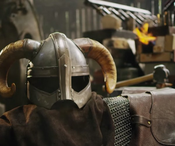 Watch a Skyrim Dragonborn Helmet Being Forged