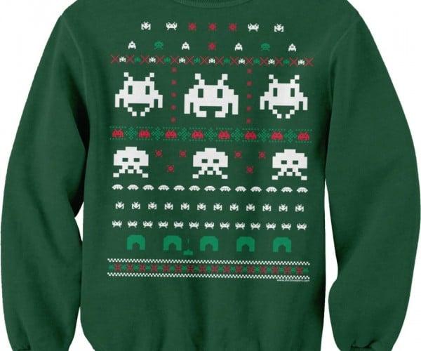Space Invaders Ugly Christmas Sweater Sweatshirt