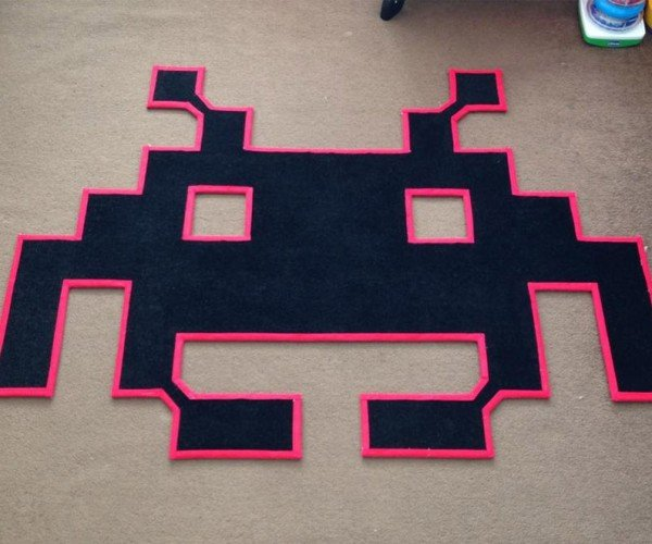 Space Invaders Rugs: Drop Down Under My Feet