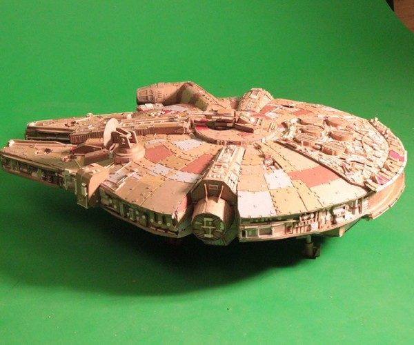 DIY Cardboard Millenium Falcon Came from Boxes Far, Far Away