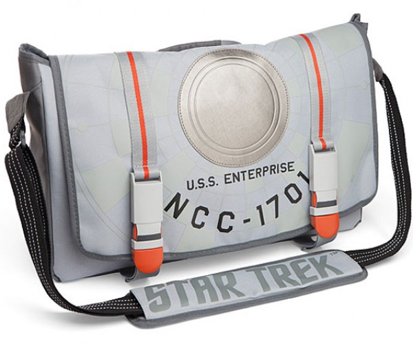 Star Trek Starship Enterprise Messenger Bag Boldly Goes to School