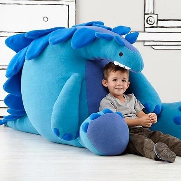 Giant Dinosaur Toy : Giant stuffed dinosaur jurassic plush technabob