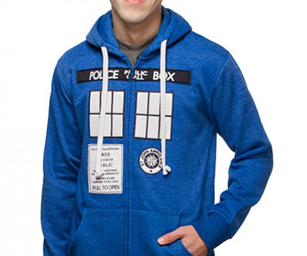 TARDIS Hoodie is Geekier on the Outside
