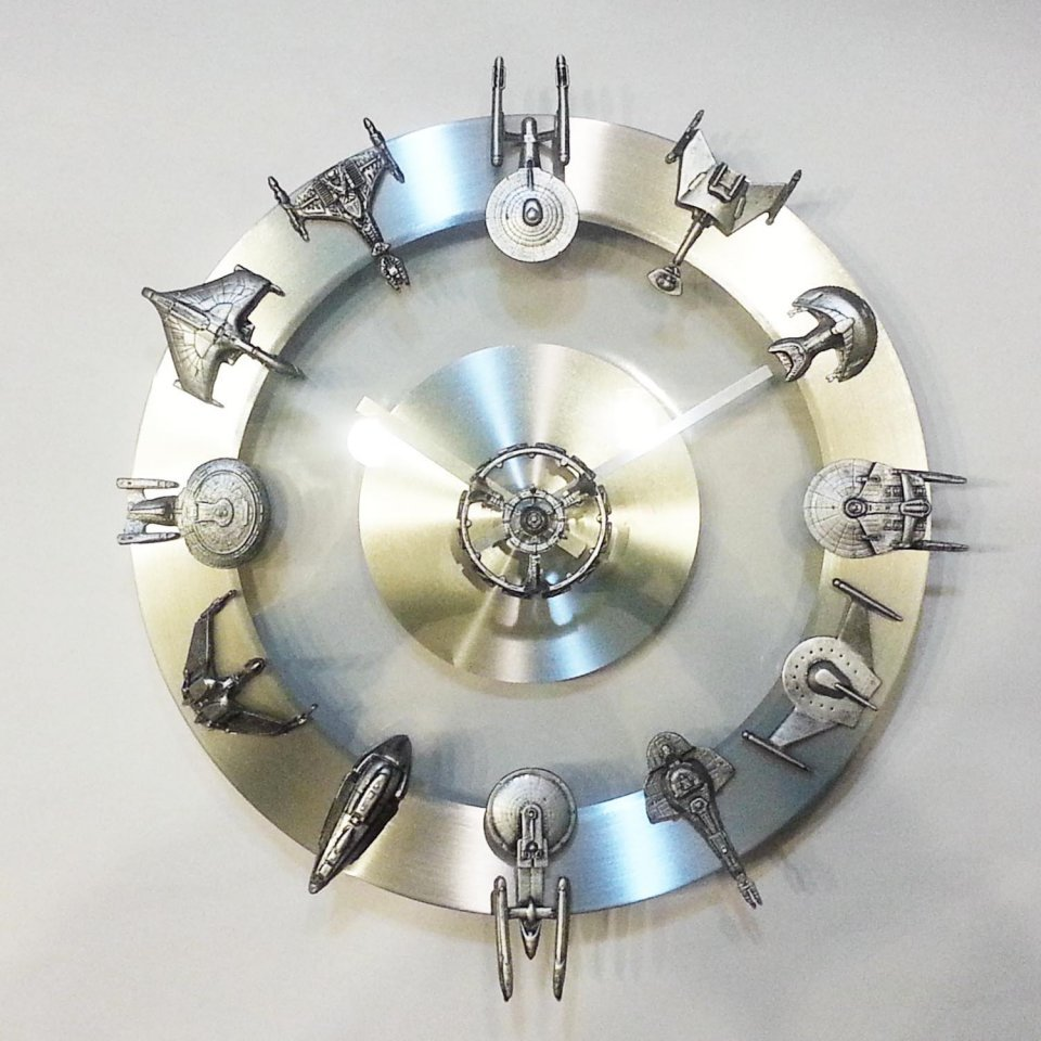 Star Trek Starship Wall Clock We Need More Time Captain