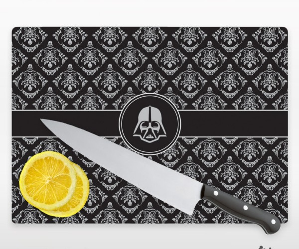 Glass Darth Vader Cutting Board: The Empire Chops Back