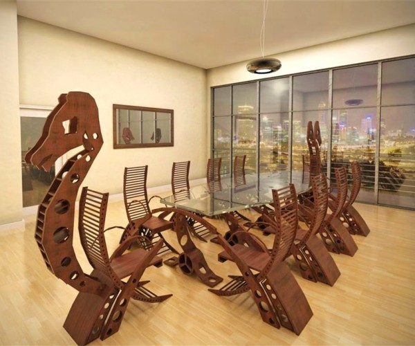 Plan Your Next Corporate Raid with This Viking Conference Table