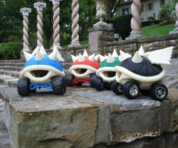 3D Printed Mario Kart Shell R/C Cars: Death Stare Not Included