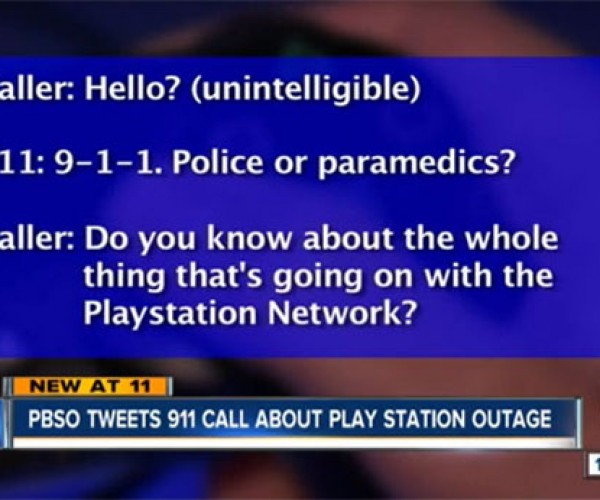 Kid Calls 911 Due to PlayStation Network Outage