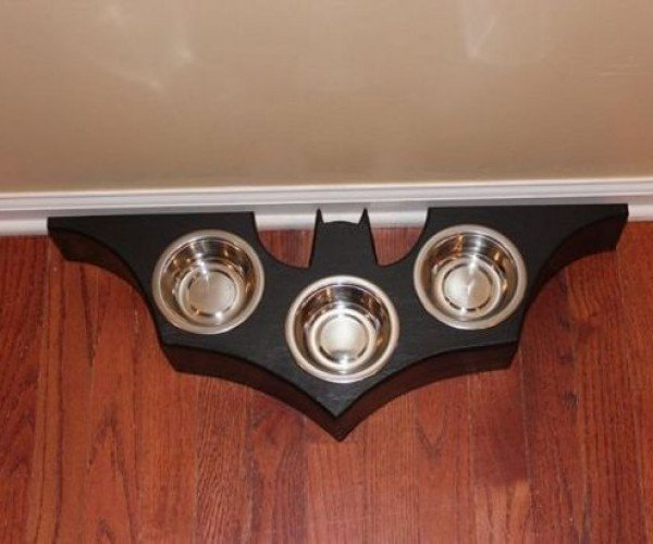 Bat Symbol Food Dish: Bane Cat Does Not Approve