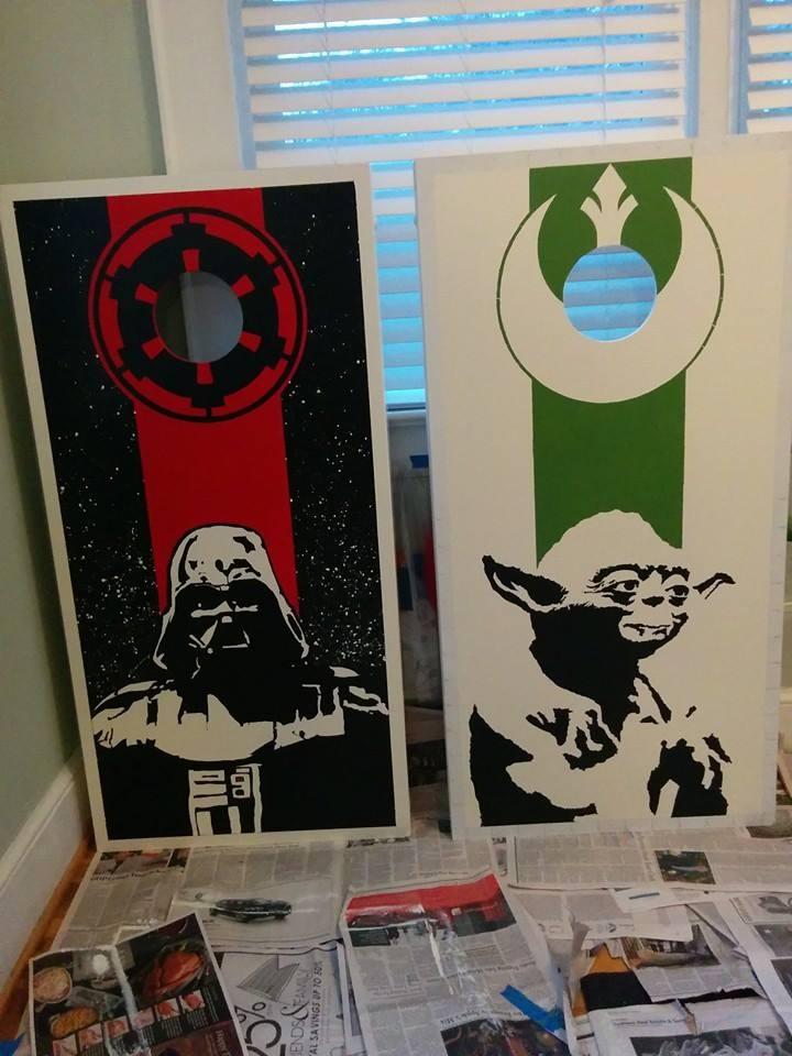 Custom Star Wars Bean Bag Boards Stay On Target