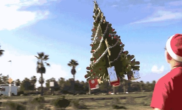 christmas tree flying