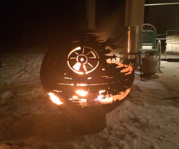The World's Second Coolest Grandpa Made This Death Star Fire Pit