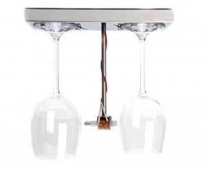 Bottoms Up Doorbell Dings Wine Glasses: Toaster