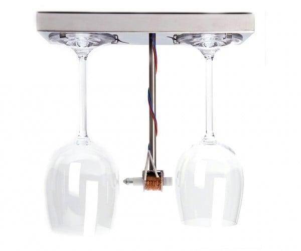 Bottoms Up Doorbell Dings Wine Glasses: Toaster