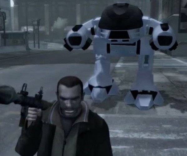 GTA IV RoboCop ED-209 Mod: You Have 20 Seconds to Install…