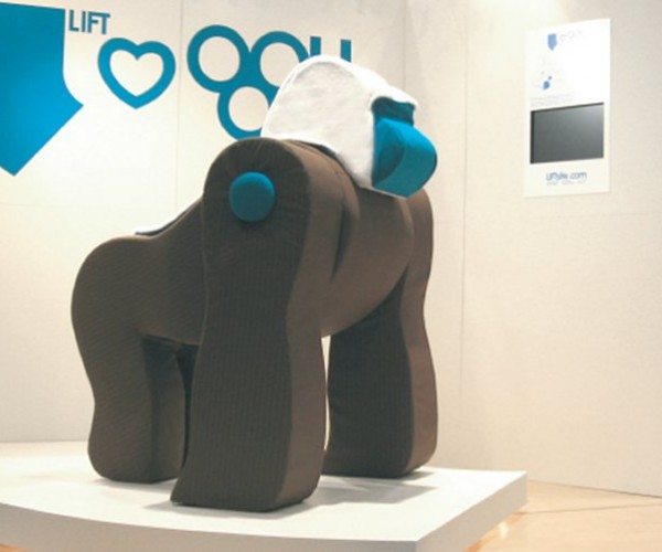 This Soft Gorilla Breaks Down into Furniture