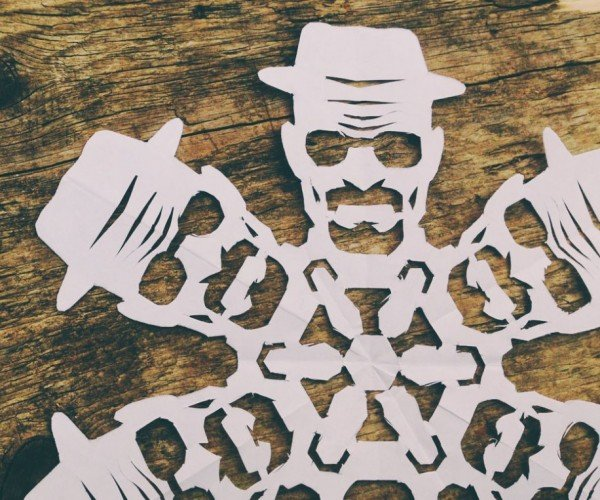 Breaking Bad Heisenberg Paper Snowflake