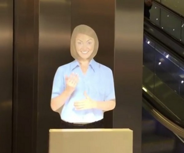 "Creepy ""Hologram"" Invades London Railway Station"