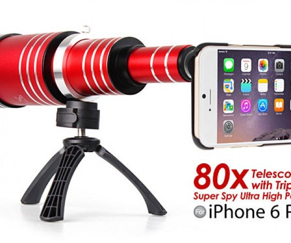 iPhone 6/6 Plus & Samsung Galaxy Note 4 80x Telescope Lens: Closer than Closer