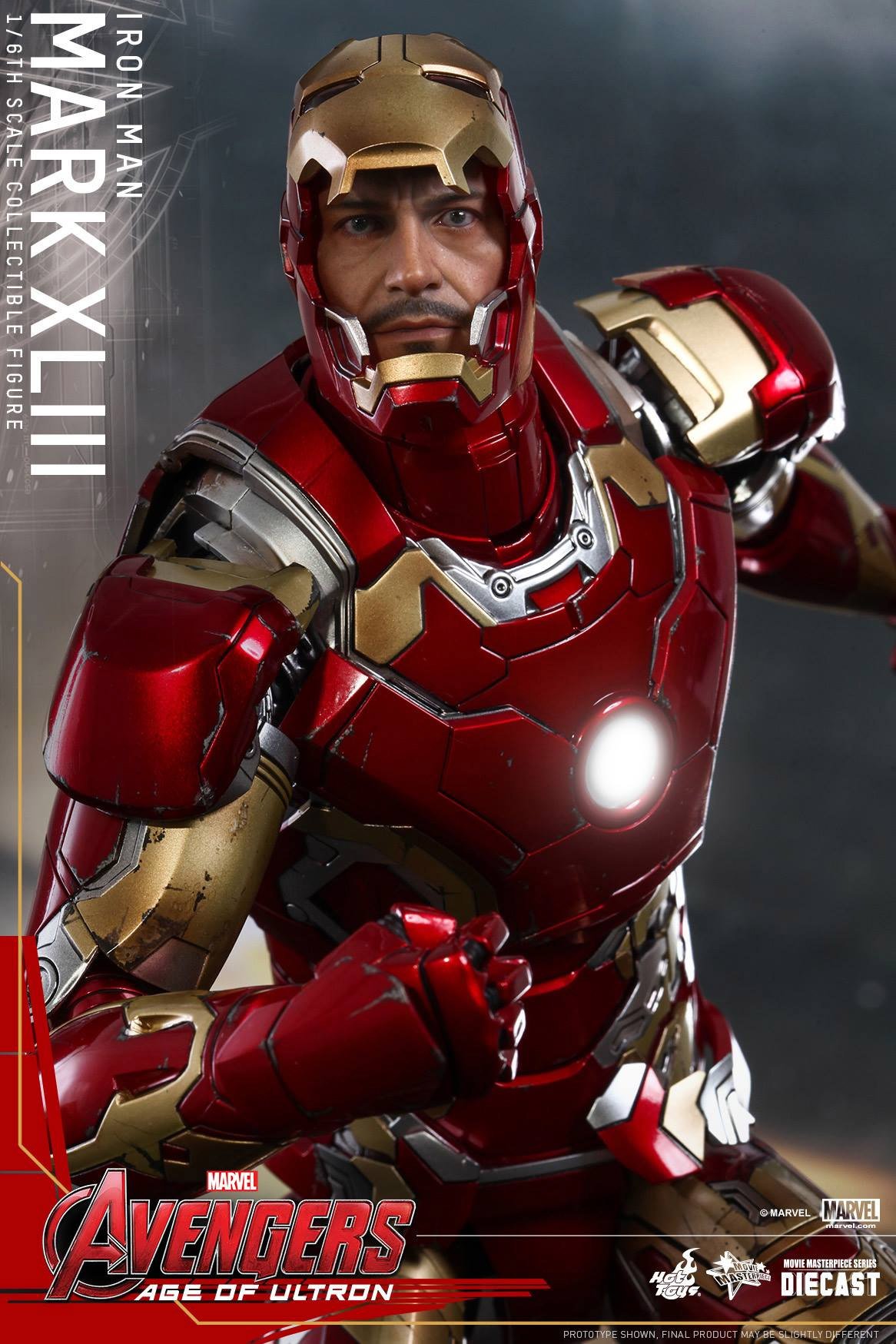 hot toys age of ultron iron man collectable is made of metal technabob. Black Bedroom Furniture Sets. Home Design Ideas