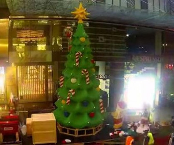 LEGO Christmas Tree Time Lapse Build is Block-ificent