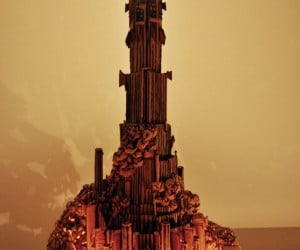 Lord of the Rings Gingerbread Barad-dûr: Gingerbarad House