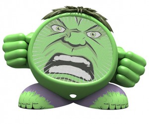 Marvel Superhero Rechargeable Speakers: Hulk Smash Eardrums!