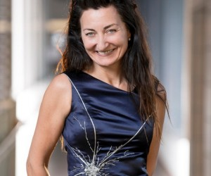 This Nobel Winner Claims Prize Decked out in the Neurons She Discovered
