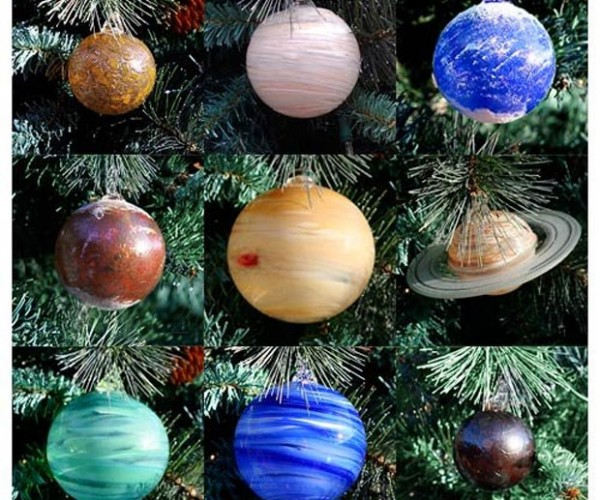 Blown Glass Solar System Ornaments Make an out of This World Tree