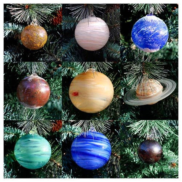 Blown Glass Solar System Ornaments Make an out of This ...