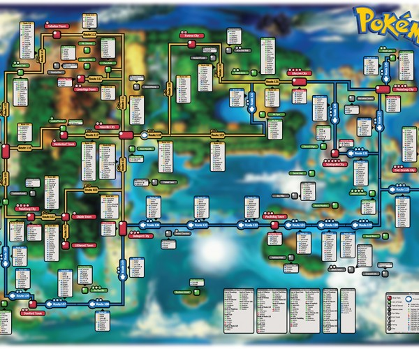 Pokémon ORAS Creature Map: Mega AreaNav