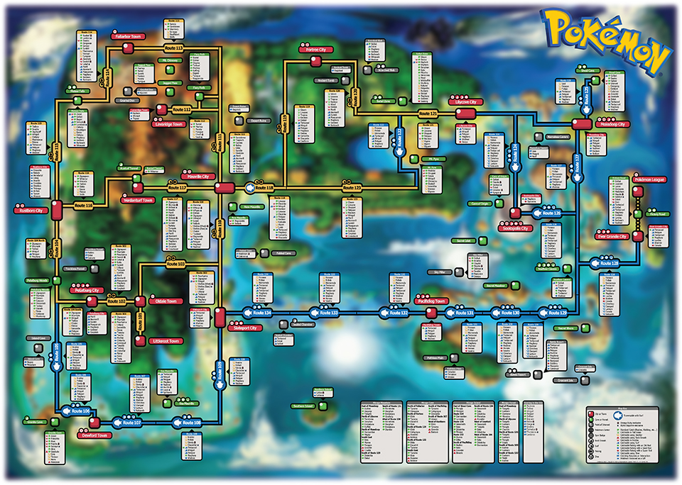 Pokémon ORAS Creature Map: Mega AreaNav - Technabob