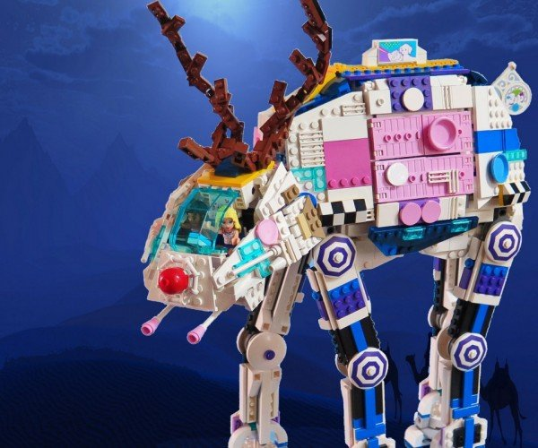 Rudolph the Red Nosed LEGO AT-AT
