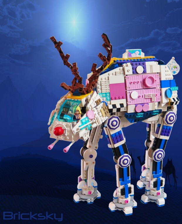 Rudolph the Red Nosed LEGO AT-AT - Technabob