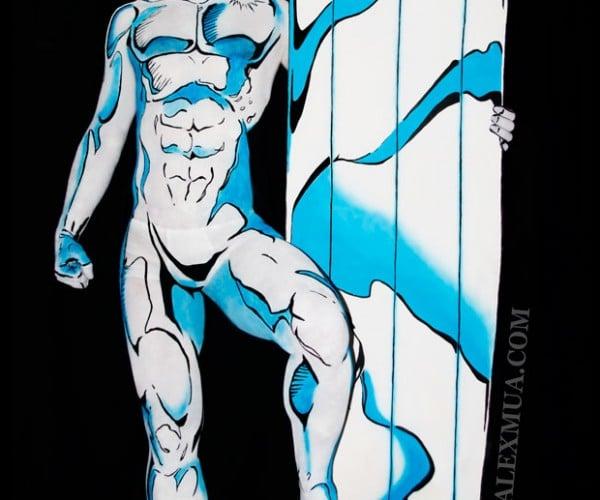Silver Surfer Body Paint: Maybe It's Norrin Radd