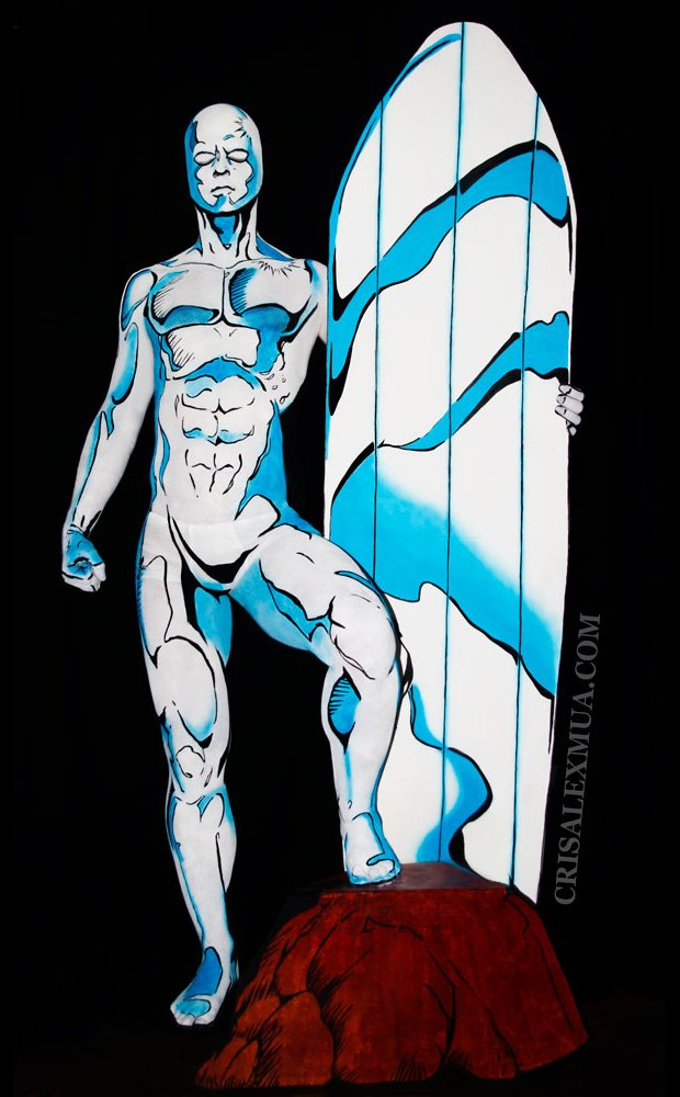 silver-surfer-body-paint-by-cris-alex