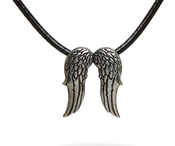Daryl Dixon Angel Wings Necklace Won't Let You Drink Peach Schnapps