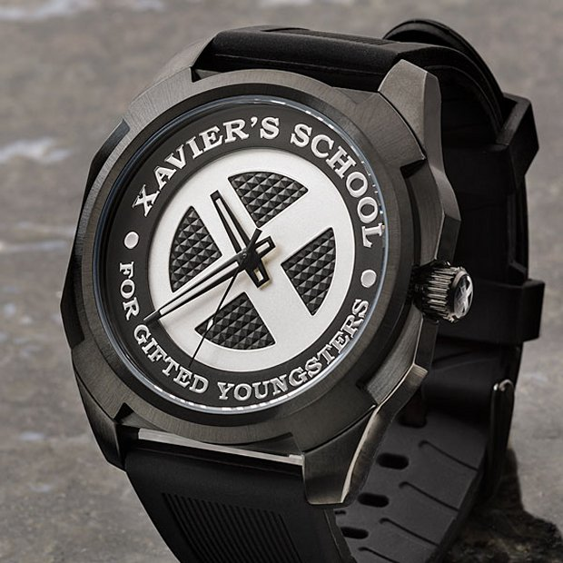 x men xavier s school watch half past x technabob the watch has a stylish design and it will go any mutant outfit it also features a stainless steel caseback and a silicone band