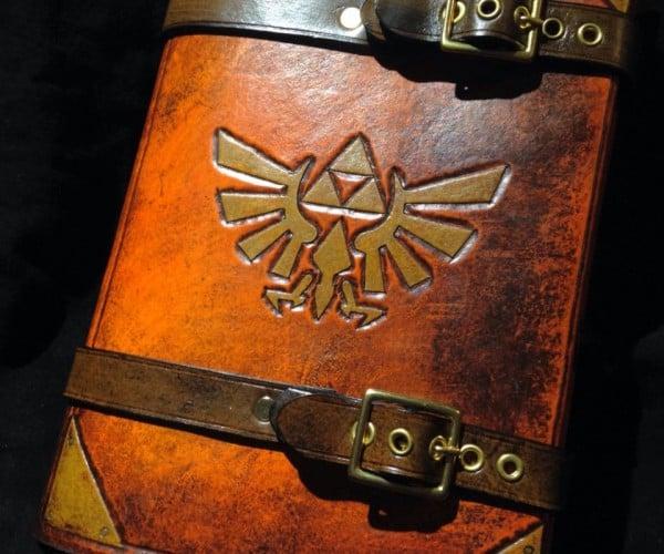Zelda Triforce Journal Book Cover: Hyrulean Literature