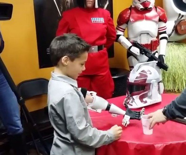 This Seven-Year-Old Gets a Clonetrooper Prosthetic Arm