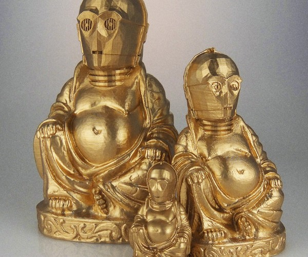 3D Printed Geeky Laughing Buddhas: What is the Sound of One Han Shooting?