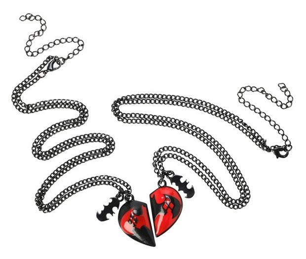 batman and harley quinn bff necklace