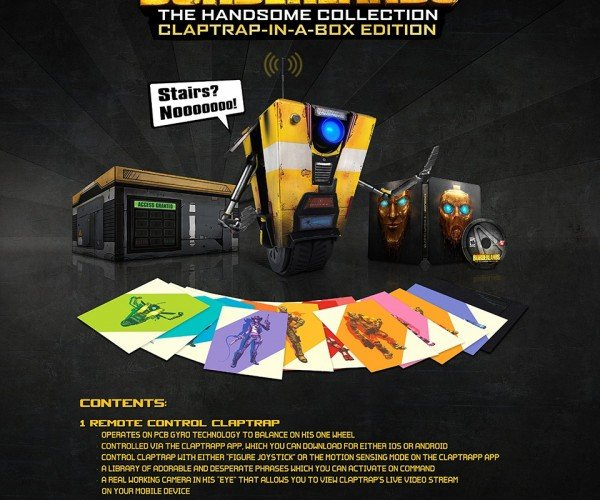 Borderlands: The Handsome Collection Claptrap-in-a-Box Edition Has a Remote Controlled Claptrap and a Long Ass Name