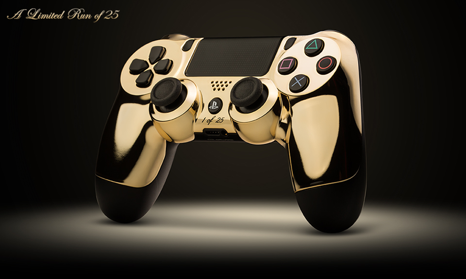 Colorware 24k Gold Plated Ps4 Amp Xbox One Controllers Next
