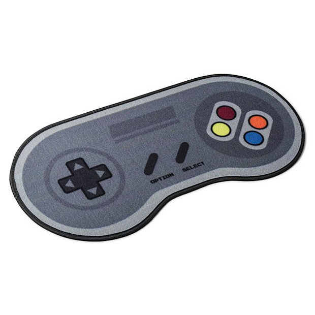 16 bit game controller doormat press a to rug technabob Controller rug